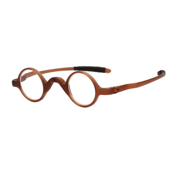Agstum Mens Women TR90 Vintage Small Round Oval Reading Glasses Readers 1.0 1.5 2.0 2.5 3.0 3.5