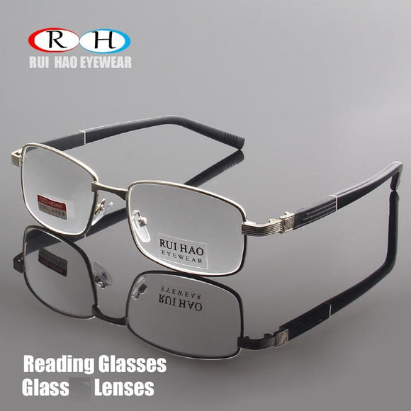 Brand Reading Glasses Clear Glass Lenses Presbyopic Eyeglasses Read Spectacles +1.00~+4.00 Rectangle Glasses Design 1308