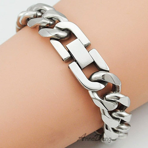 Stainless Steel Link Bracelet For Men - Choose Your Style