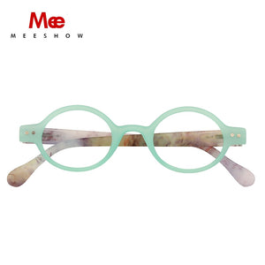 Meeshow Reading Glasses Frame Women Glasses Clear Round Eye Glasses Man Stylish +1.0 +1.25 +4.0 1730