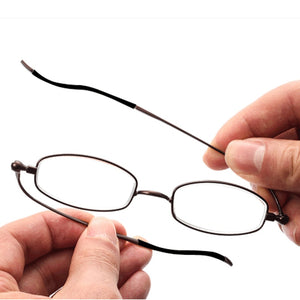 Portable ultra-thin metal presbyopic glasses full frame reading glasses+1.0 to +3.5