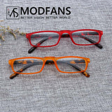 Thin Optics Reading Glasses Women Men Small Rectangle Hyperopia Prescription Eyeglasses Hing Spring Diopter 1 1.5 2 2.5 3 3.5