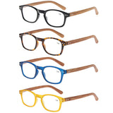 Women Reading Glasses Woman Eyeglasses Wooden Pattern Men Glass Wood Prescription Diopter Magnifier Optical oculos masculino
