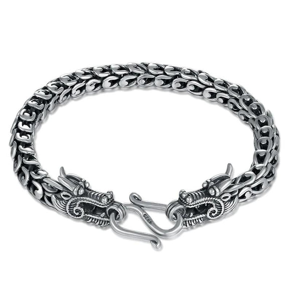 925 Sterling Silver Couple Dragon Bracelet