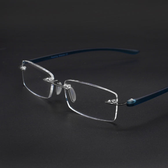 ultralight office readers reading glasses men women rimless resin sheet with diopters +1.0 +1.5 +2.0 +2.5 +3.0 +3.5