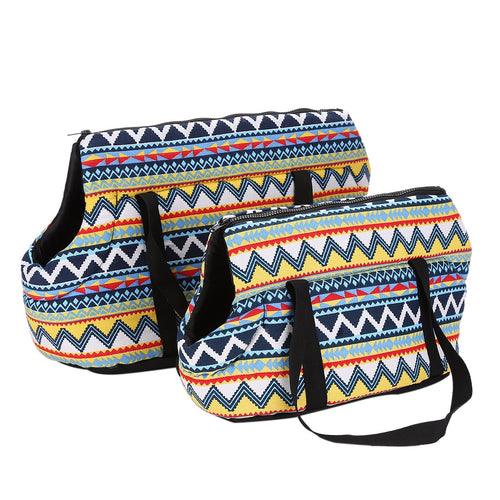 Pet Dog Sling Carrier Breathable Mesh Travel Safe Sling Bag Carrier for Dogs Cats Geometric Print Pet Carrier Airline Approved