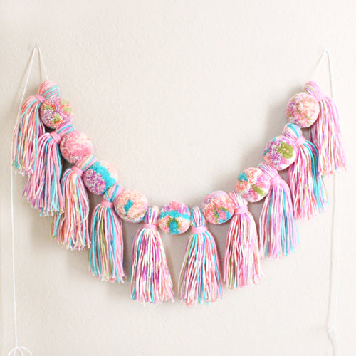Pom Pom Tassel Garland, Multi Color Banner, Party and Room Decor