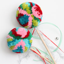 Load image into Gallery viewer, Pom Pom Wand, Christmas Multi Colors, Party Playtime