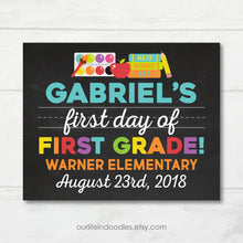 Load image into Gallery viewer, First Day of School Sign, Milestone Printable, Any Grade