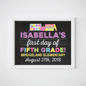 First Day of School Sign, Milestone Printable, Any Grade