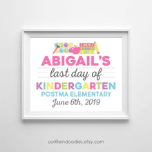 Load image into Gallery viewer, Last Day of School Sign, Milestone Printable, Any Grade
