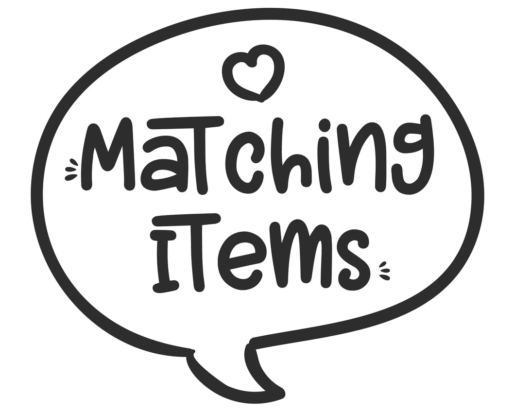 Made to Match Party Decor Items, Printable Custom Matching Items