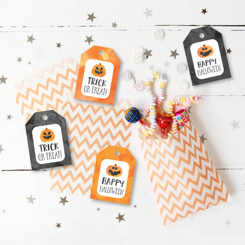 Halloween Tags, Trick or Treat Goody Bags, Printables