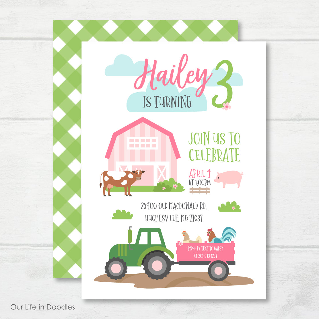 Farm Animals Barn Friends Printable Birthday Party Package
