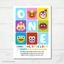 Load image into Gallery viewer, Muppet Babies Invitation, Muppet Babies Inspired Birthday Party Invite