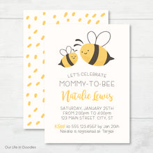 Load image into Gallery viewer, Bee Invitation, Mommy to Bee Baby Shower Invite