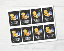 Load image into Gallery viewer, Valentine Card, Star Wars Classmates Printable Valentines