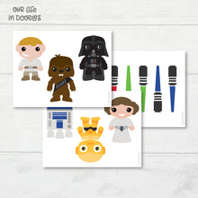 Load image into Gallery viewer, Star Wars Banner, Galaxy Party Decor Garland, Birthday Printable Party, Cake Topper
