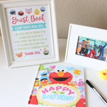 Load image into Gallery viewer, Sesame Street Guest Sign Book, First and Second Birthday Poster, Printable Kids Party Decor