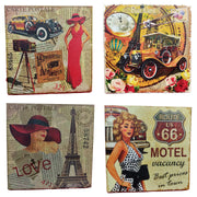 Copy of VIN UVP 19 8x8 Inch Pack of 4 Design Snoogg Art Vintage CollectionGessoo Texture.