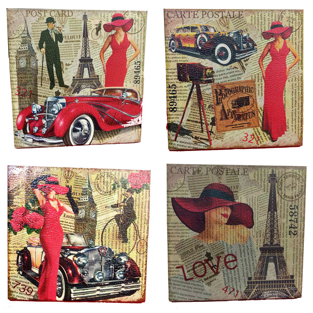 VIN UVP 20 8x8 Inch Pack of 4 Design Snoogg Art Vintage CollectionGessoo Texture.