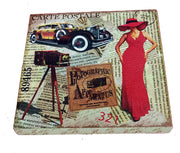 VIN UVP 11 8x8 Inch Snoogg Art Vintage CollectionGessoo Texture.