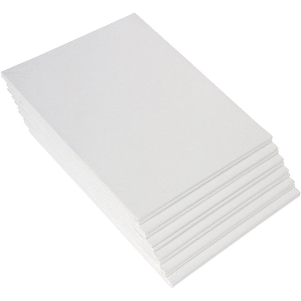 CAB 10x10 Snoogg Canvas Board Panel Double Primed for Painting of All Media Acrylic, Oil,