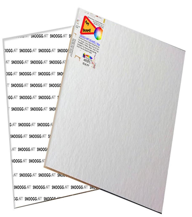 CAB 5x7 Snoogg Canvas Board Panel Double Primed for Painting of All Media Acrylic, Oil,