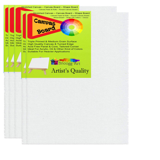 CAB 4x6 Snoogg Canvas Board Panel Double Primed for Painting of All Media Acrylic, Oil,