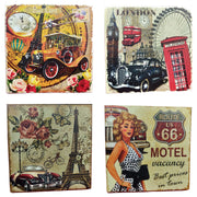 VIN UVP 22 8x8 Inch Pack of 4 Design Snoogg Art Vintage CollectionGessoo Texture.