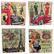 VIN UVP 24 8x8 Inch Pack of 4 Design Snoogg Art Vintage CollectionGessoo Texture.