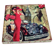 VIN UVP 13 8x8 Inch Snoogg Art Vintage CollectionGessoo Texture.