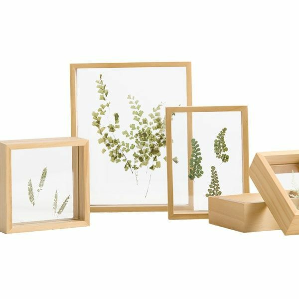 PFRM 3 x 4 Inch Mini solid wood Pine Wood picture / Photo frame both side display with flexi glass.