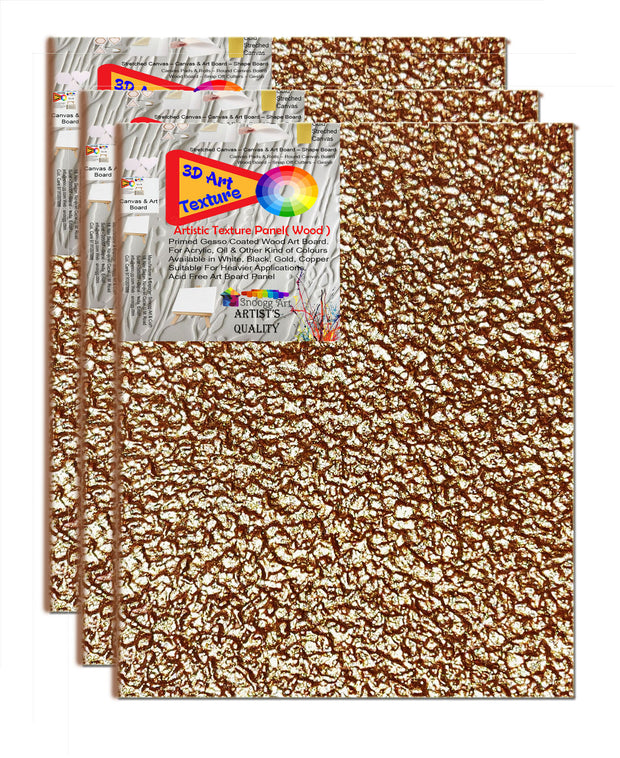 3D Color WAB 4x6 Inch   Snoogg Artistic grain finish Art Board Gessoo PrimedBoard