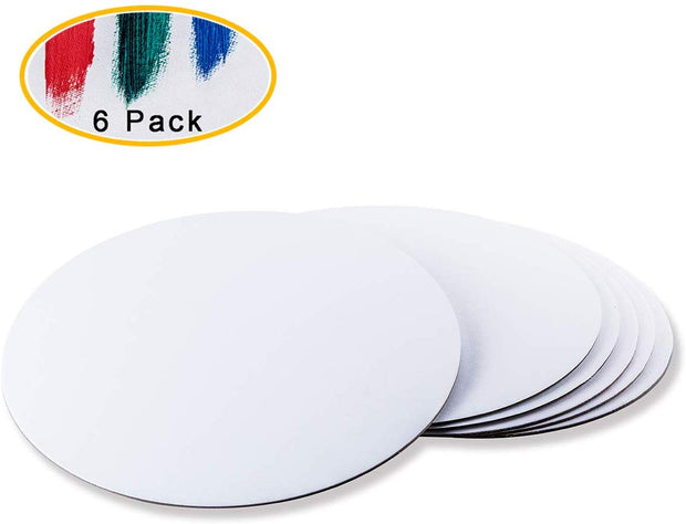 SAP-AB-Round  Snoogg Shaped Painting Art Board Wood base. Excellent for Pouring , Oil,Acrylic