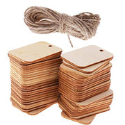 TAG MDF Size : 3x4 Inch. Snoogg Unfinished Natural DIY MDF Wood 10 pc Tags Pack.
