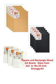 ABW  Snoogg Art Board  4x6 Inch 100% MDF . Manual created Grain finish. Triple Primed