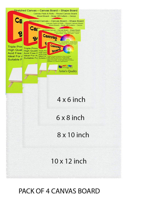 CAB 12x16 Snoogg Canvas Board Panel Double Primed for Painting of All Media Acrylic, Oil,
