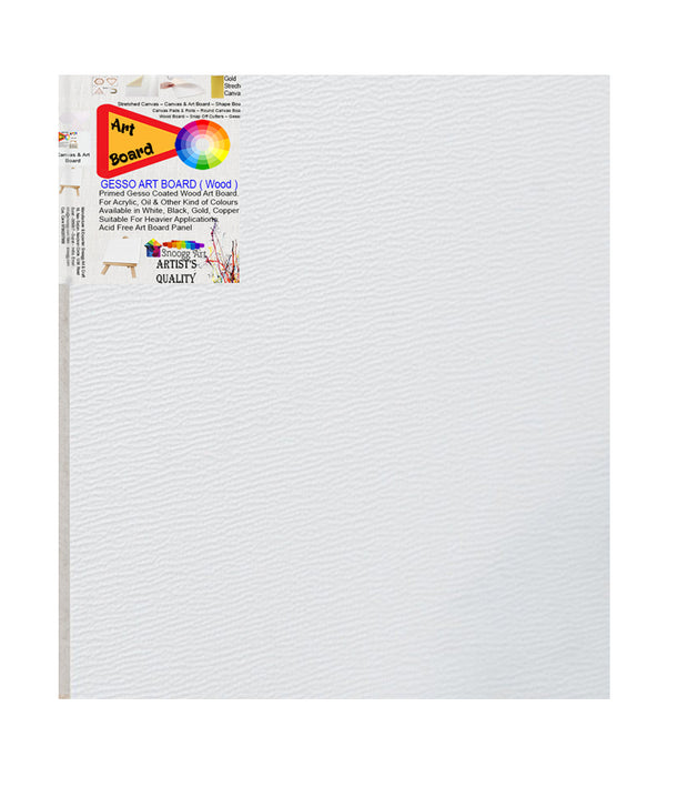 3D-WAB 10x10 Inch - Snoogg Artistic grain finish Wood Art Board Triple Primed ready for Painting
