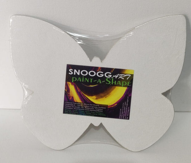 SnooggArt | Paint-a-Shape Canvas Board Panel BUTTERFLY Shape