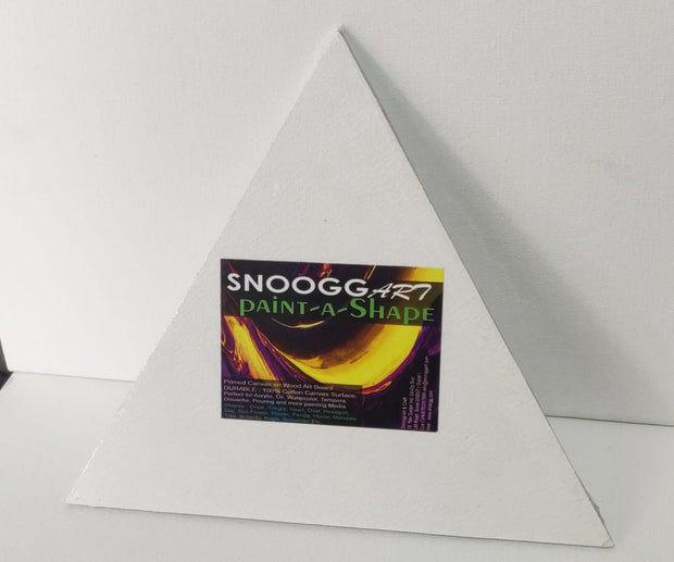 SnooggArt | Paint-a-Shape Canvas Board Panel TRIANGLE Shape