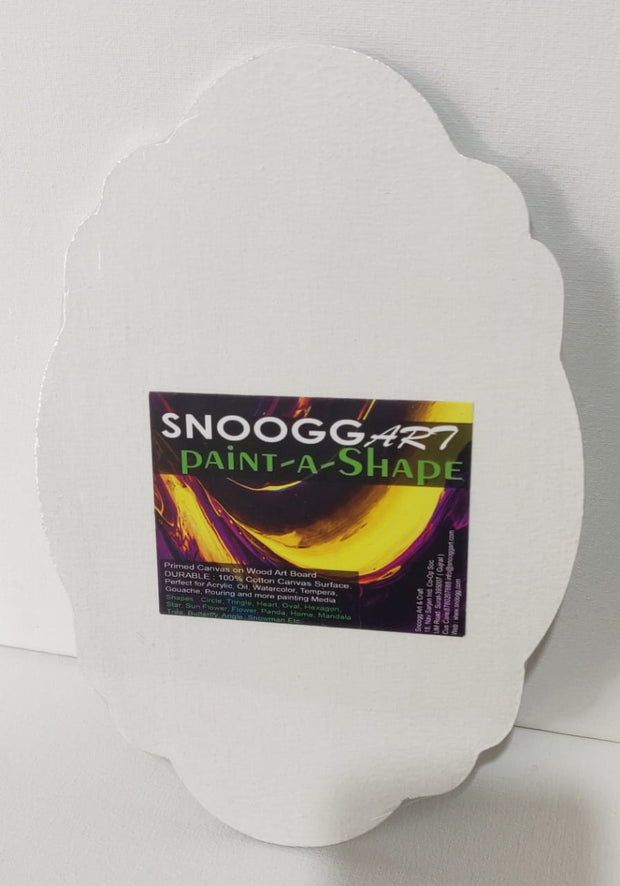 SnooggArt | Paint-a-Shape Canvas Board Panel MIRROR Shape
