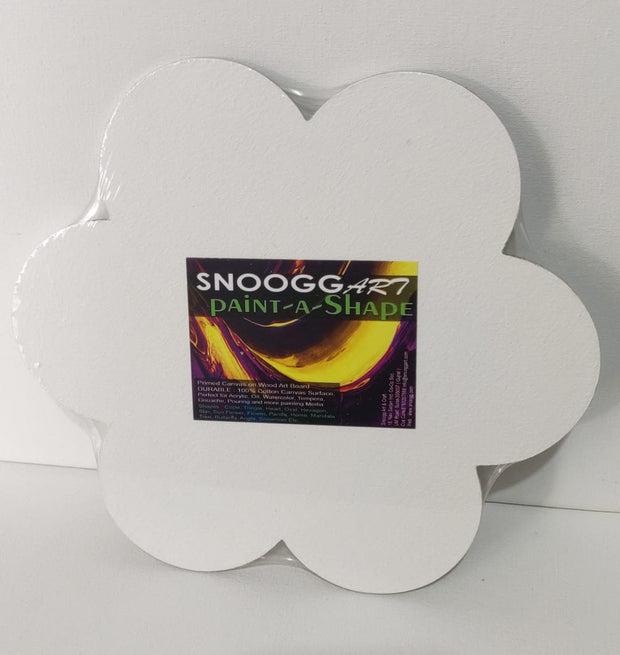 SnooggArt | Paint-a-Shape Canvas Board Panel FLOWER Shape