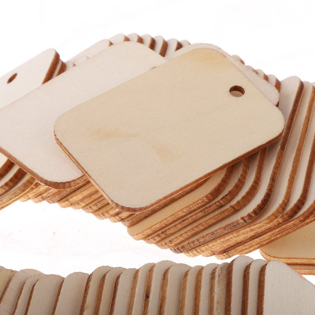 TAG MDF Size : 2x3 Inch. Snoogg Natural DIY MDF Wood Tags Each unit is 25 Piece Pack.