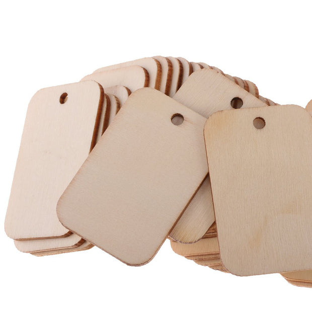 DIY TAG MDF Rounded edge with middle home and jute twin.each unit 10 PC Pack