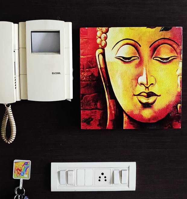 "UVP 200 12x12 & 16x16 Snoogg Art 'Lord Buddha "" Painting Print Art Work. For Home, Living Room"