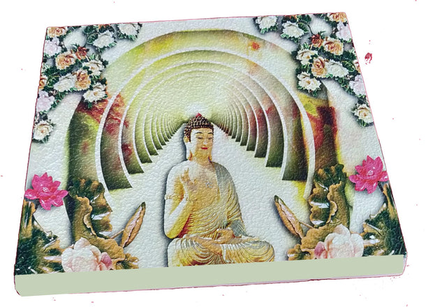 "UVP 202 12x12 & 16x16 Snoogg Art 'Lord Buddha "" Painting Print Art Work. For Home, Living Room"