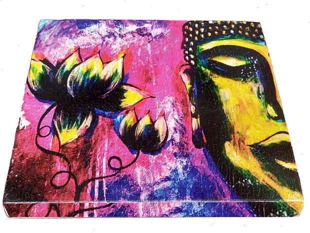 "UVP 203 12x12 & 16x16 Snoogg Art 'Lord Buddha "" Painting Print Art Work. For Home, Living Room"