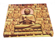 "UVP 204 12x12 & 16x16 Snoogg Art 'Lord Buddha "" Painting Print Art Work. For Home, Living Room"