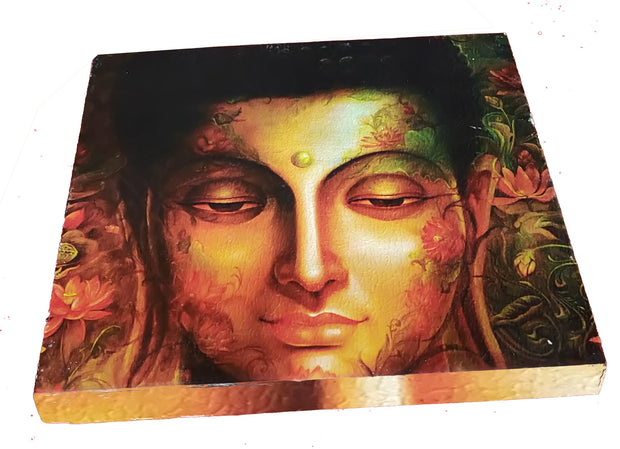 "UVP 205 12x12 & 16x16 Snoogg Art 'Lord Buddha "" Painting Print Art Work. For Home, Living Room"